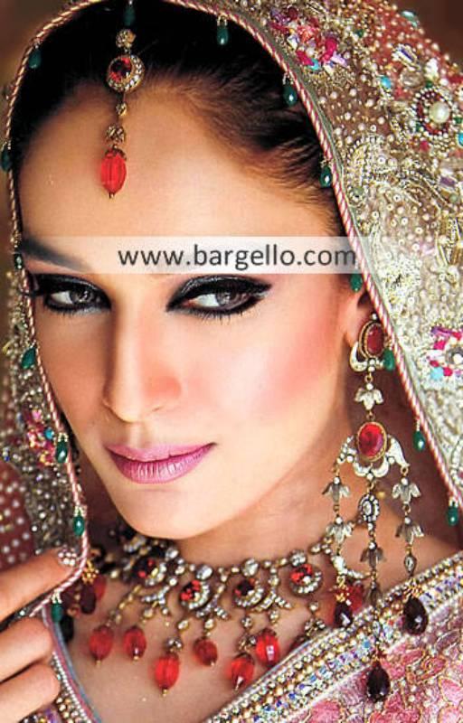 Pakistani Bridal Jewellery Sets Montgomery Village Maryland USA Artificial Ruby Stone Jewellery Sets