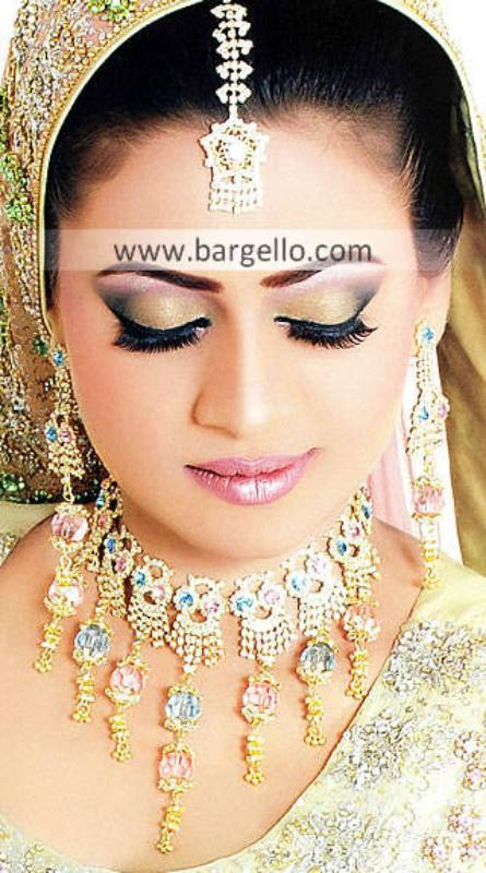 Appealing Indian Bridal Jewlry Sets Orlando Florida USA Zircon Gemstones Jewellery Sets
