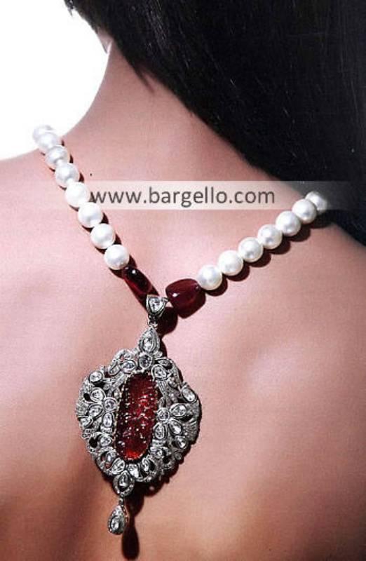 Glorious Rhodium Plated Locket Hobart Australia Indian Fashion Jewellery