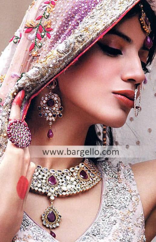 Pakistani Bridal Kundan Jewellery Sets Seattle Washington USA Kundan and Zircon Jewellery Sets