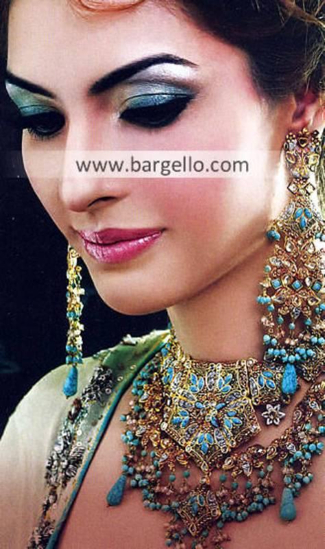 Feroza Stone Jewellery Sets Glasgow Scotland USA Feroza Jewellery Sets in Silver and Gold Plated
