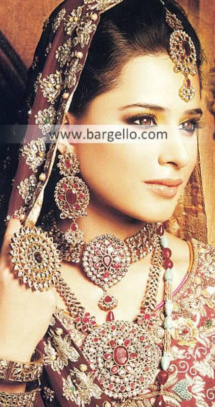 Stylish Pakistani Kundan Bridal Jewellery Sets Netherland Holland USA Ruby Stone Jewellery Sets