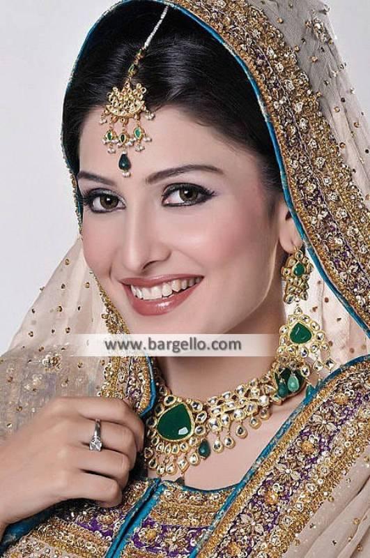 Astonishing Pakistani Bridal Jewellery Oslo Norway Kundan Gold Jewellery Sets