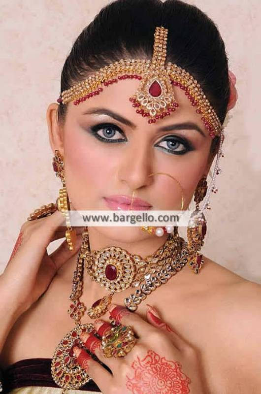 Glorious Asian Bridal Jewellery Sets San Francisco California USA Jhoomer Necklace and Earrings Set