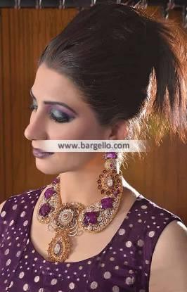 Fabulous Party Wear Jewellery Sets Bell Bar UK Zircon Gemstone Jewellery Sets Pakistan