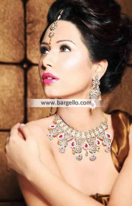 Graceful Designer Jewellery Set Newcastle UK Zircon Gemstones Pearls Set