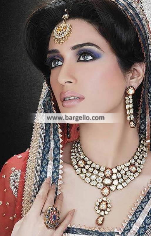 Designer Zircon and Kundan Jewellery Sets Paris France Indian Pakistani Fashion Jewellery