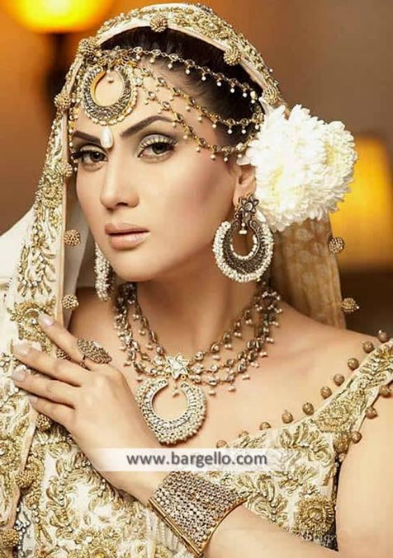 Beautiful Pakistani Bridal Jewellery Set San Francisco USA Anum Yazdani Silver Jewellery Sets
