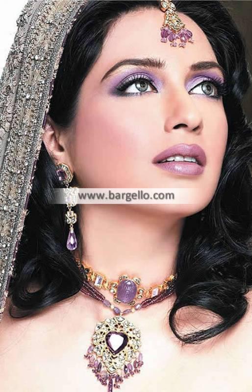 Pakistani Kundan Bridal Jewellery Jewelry Paris France