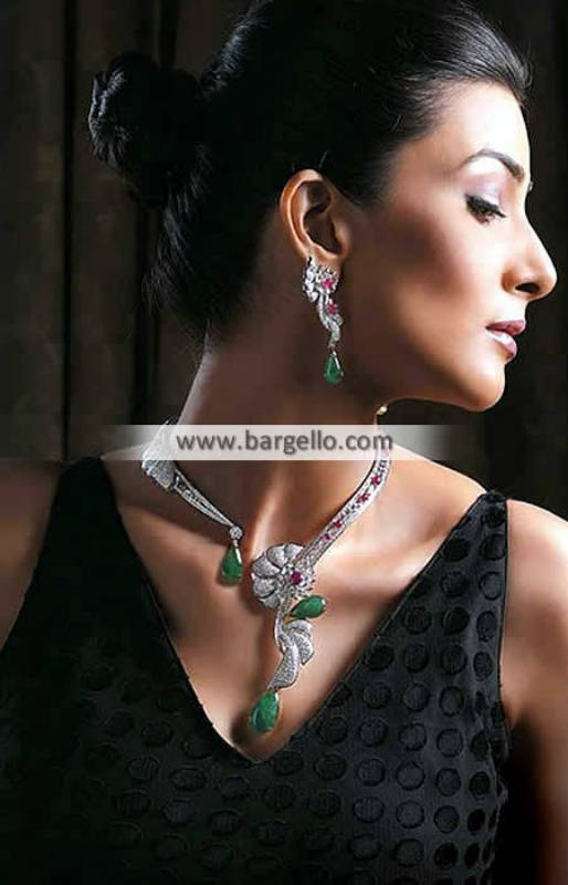 Rhodium Plated Jewellery Sets Pakistani Jewellery Sets