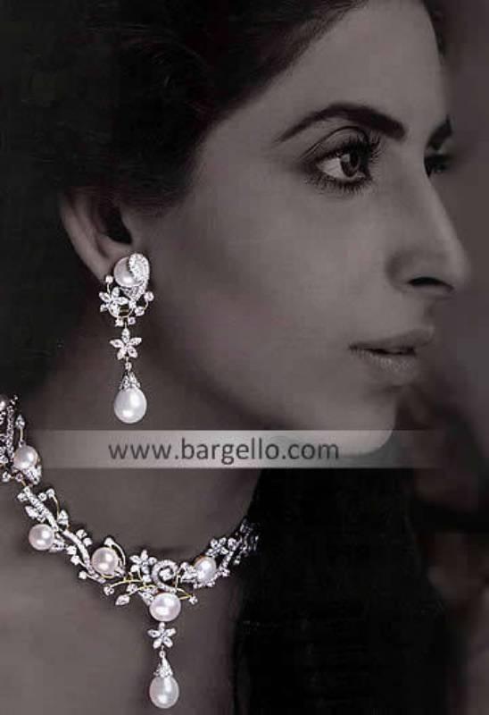 Designer Indian Jewelry Designs, India Mother Pearl Sterling Silver Jewelry, Silver Pearl Jewelry