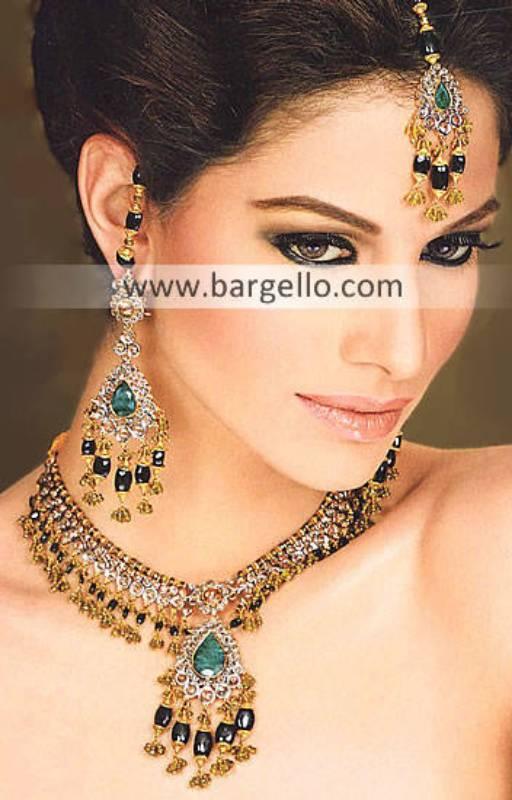 Pakistani Fashion Jewelry, Indian Pakistan Garnet Emerald Ruby Jewelry, Semi Precious Stone Jewelry