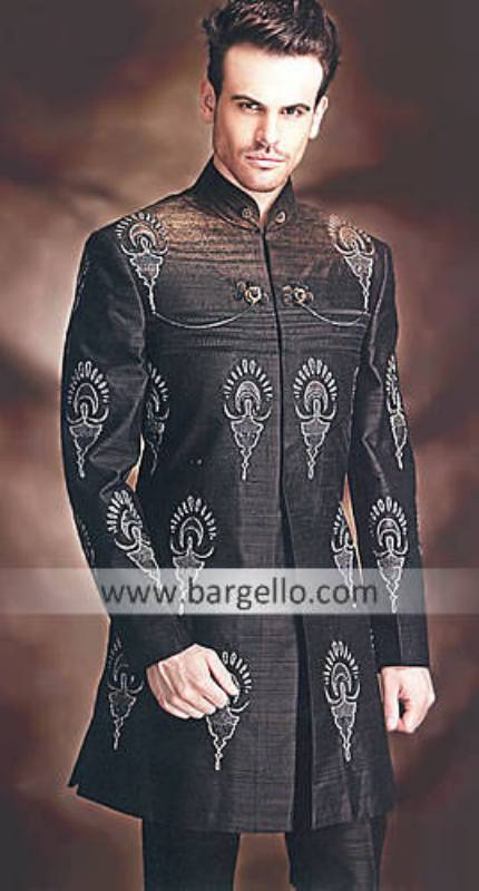 Wedding Men's Sherwani With Turban Manchester London, Qulla Indian Pakistani Sherwani Blackburn UK