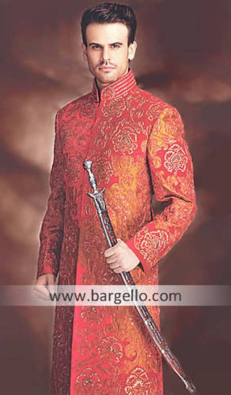Designer Embroidered Sherwani Illinois Chicago, Sherwani Dresses For Groom Lincolnwood Maryland