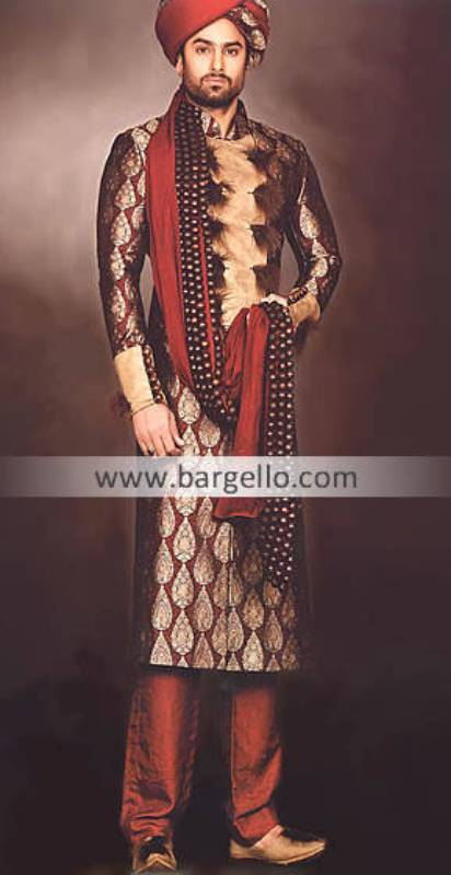 Designer Embroidered Sherwani Illinois Chicago, Sherwani Dresses For Groom Lincolnwood Maryland