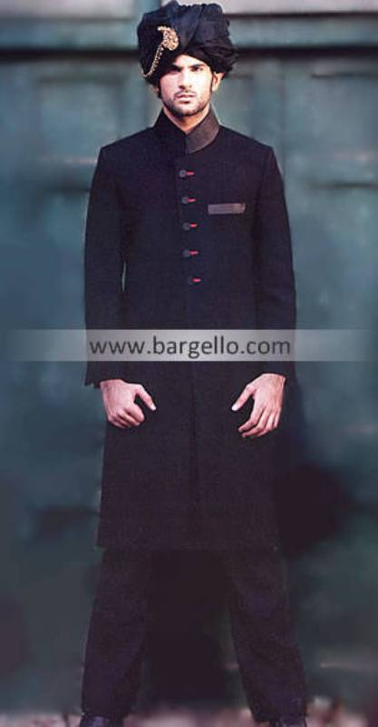 Dashing Jamawar Raw Silk Sherwani, Heritage Collection, Wedding Sherwanis in Jacquard Raw Silk