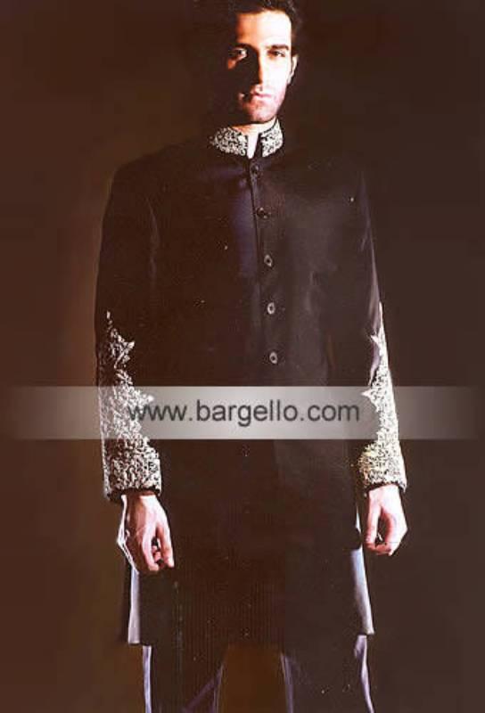Men's Sherwani Designers Grooms Embellished Sherwani Pakistan and India
