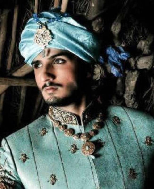 Turquoise Sherwani Turban For Men New York City, Turquoise Turban Sherwani For Groom Santa Clara CA