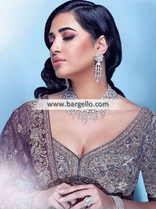 Artificial Diamond Necklace for Walima Bridal Jewellery Ideas Designs