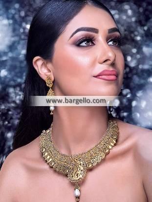 Paisley Nakshi Choker Set Nakshi Choker with Earrings Bridal Artificial Jewellery Sets