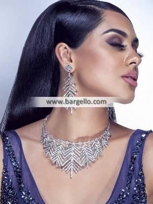 Handmade Zircon Choker Jewellery Sets Bridal Jewellery Sets for Walima
