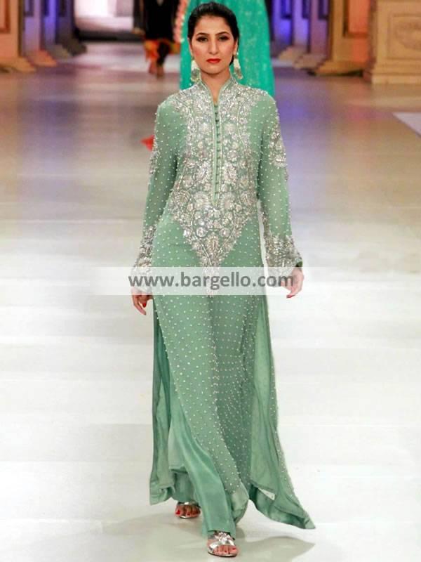 Designer Pishwaz Dresses UK USA Canada Australia Embroidered Pishwaz Outfits